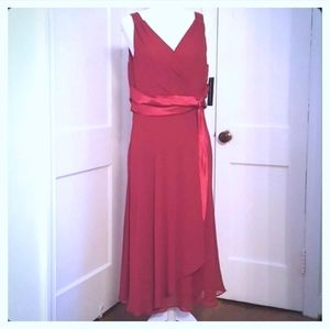 NWT Jones Wear Dress lined V neck red dress